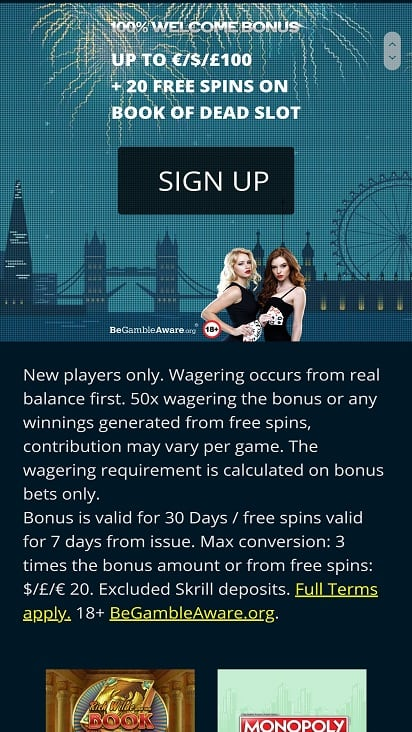 Casino British promotions page