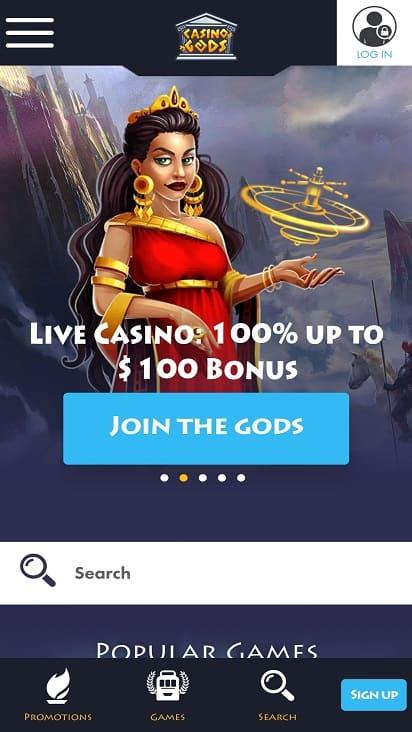Casino Gods home page