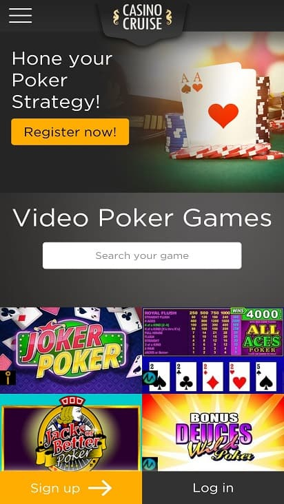 Casino cruise Games page