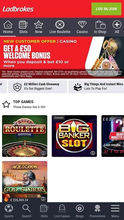 Casino ladbrokes home page