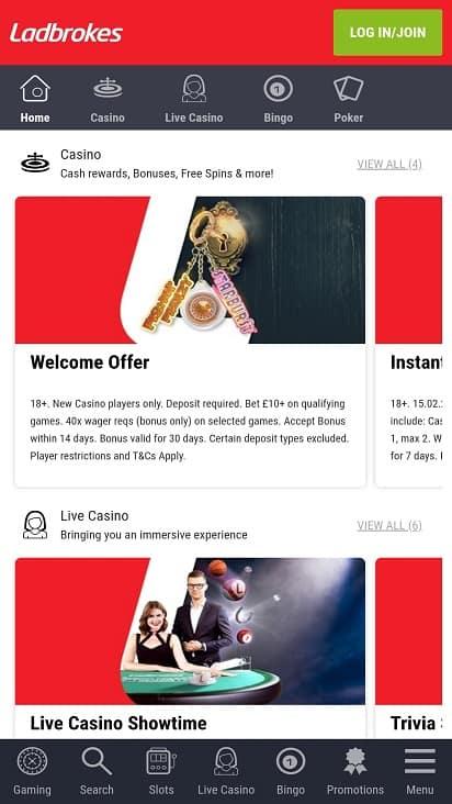 Casino ladbrokes promotions page