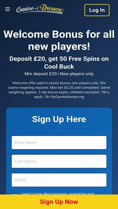 Casino of dreams home page