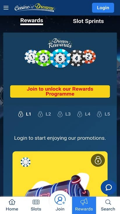 Casino of dreams promotions page