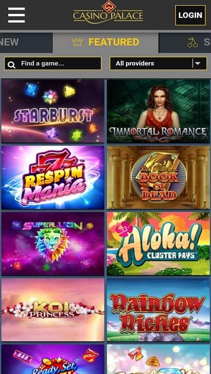 Casino palace games page