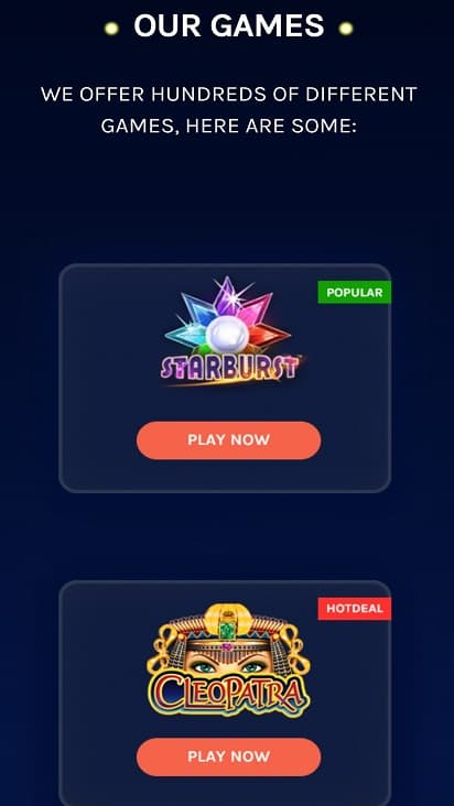 Casino roo games page