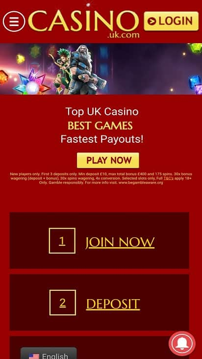 Casino uk Home page