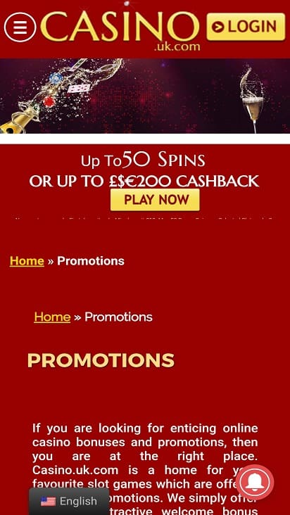 Casino uk promotions page