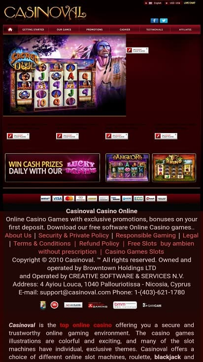 Casino val home page
