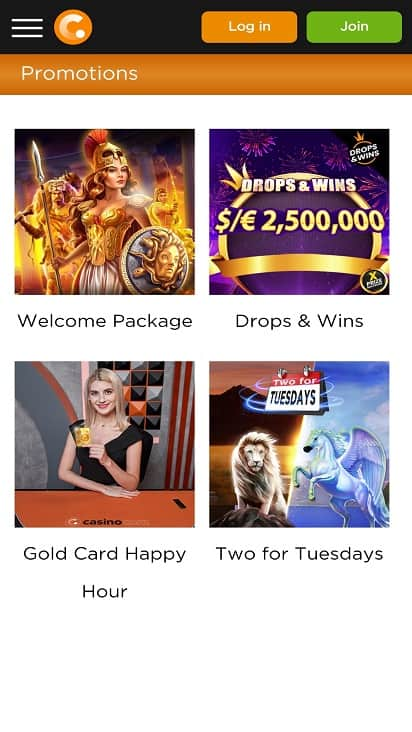 Casino.com promotions page