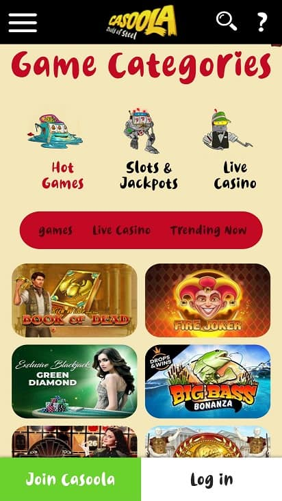 Casoola games page