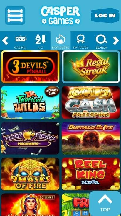 Casper games page