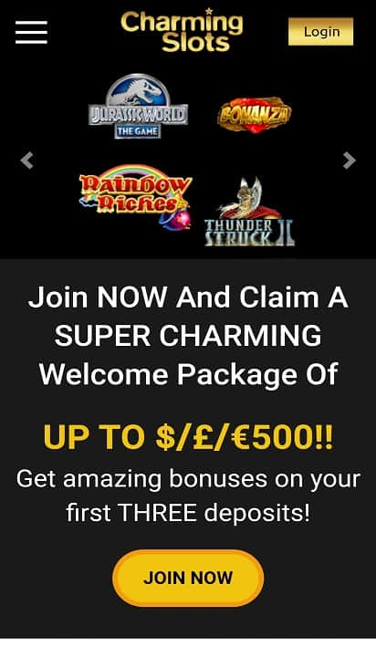 Charming slots home page