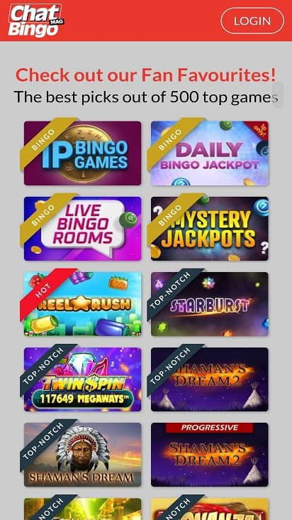 Chatmag bingo games page