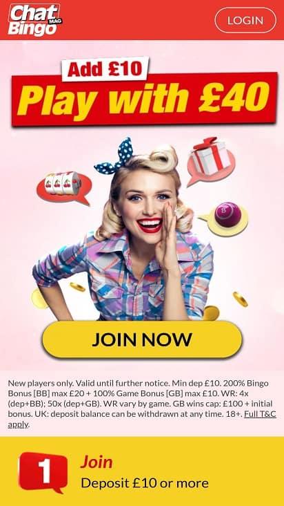 Chatmag bingo home page