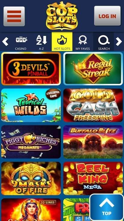 Cop slots games page