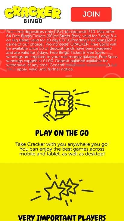 Cracker bingo promotions bingo