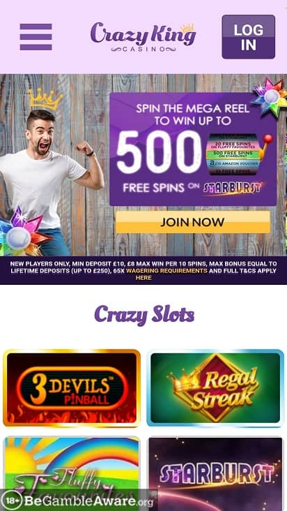 Crazy king casino home page