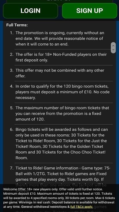 Crocodile bingo promotions page