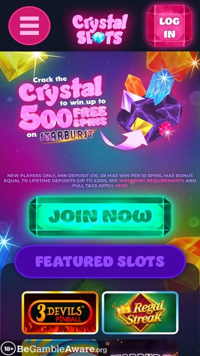 Crystal slots home page