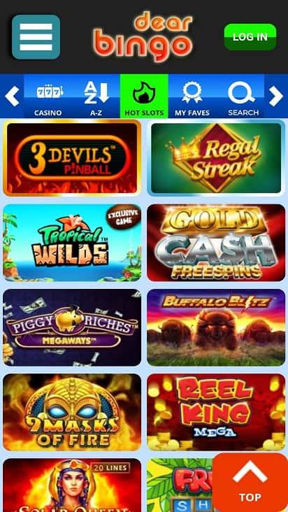 Dear bingo games page