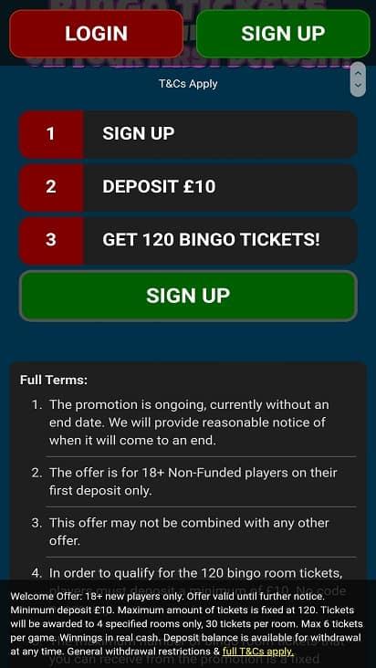 Dino bingo games page