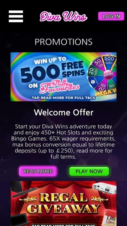 Diva wins promotions page