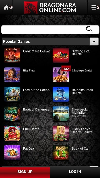 Dragonara online games page