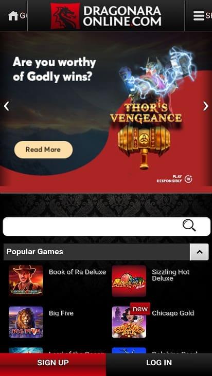 Dragonara online home page