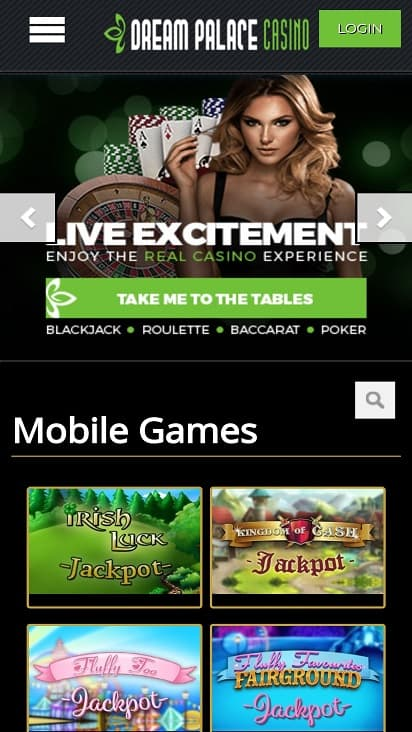 Dream casino palace games page