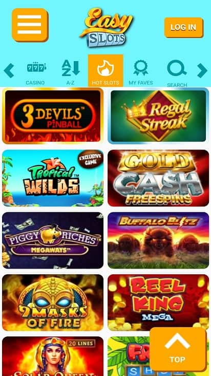 Easy slots games page