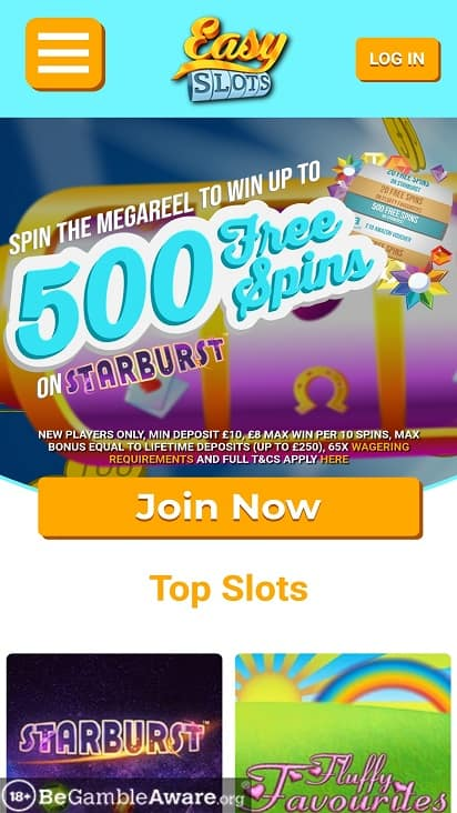 Easy slots home page