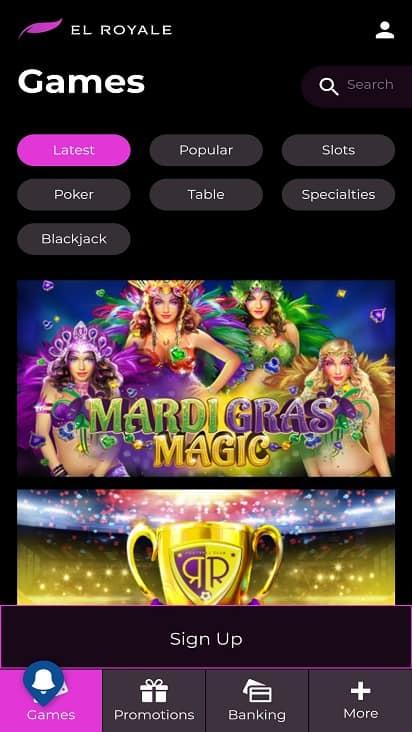 El royale games page