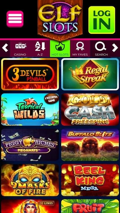 Elf slots games page