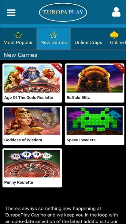 Europa play games page
