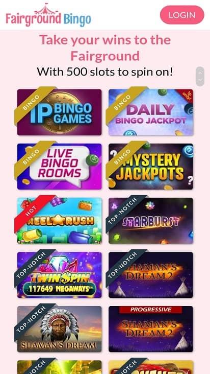 Fair ground bingo games page