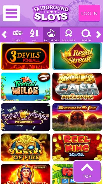 Fair ground slots games page