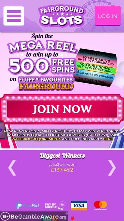 Fair ground slots home page