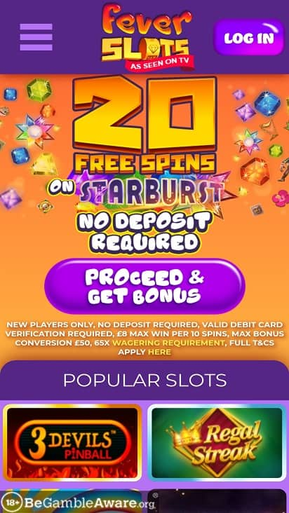 Fever slots home page