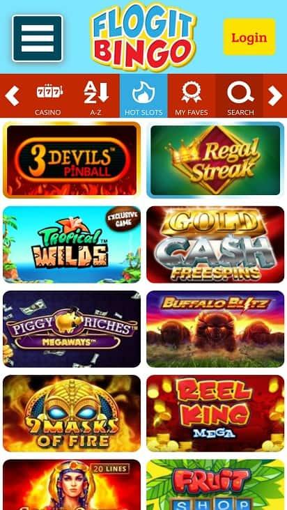 Flogit bingo games page