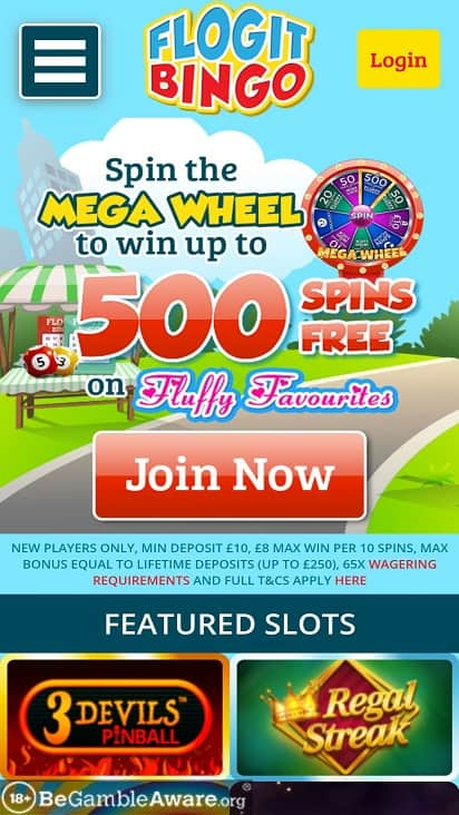 Flogit bingo home page