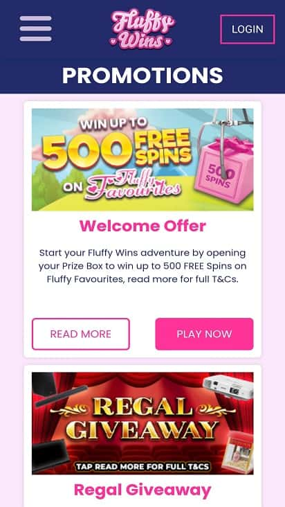 Fluffy wins promotions page