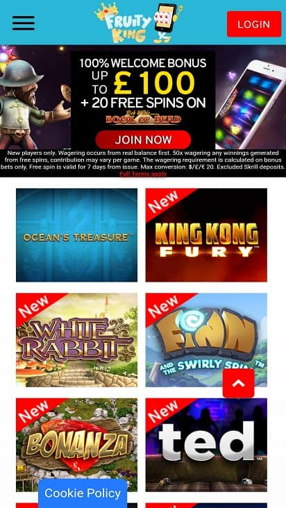 Fruity kings games page