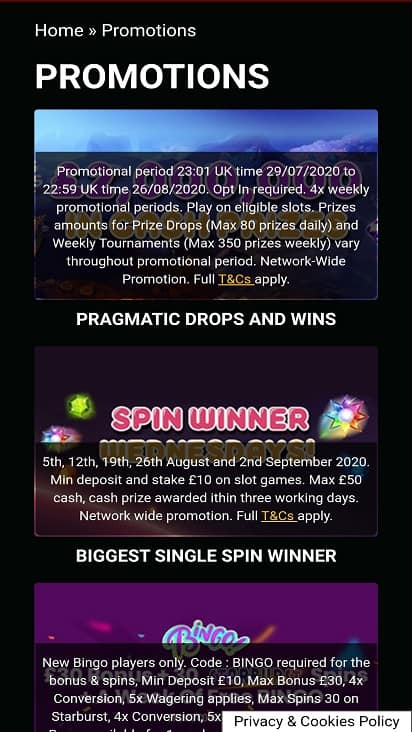 Fruity wins promotions page