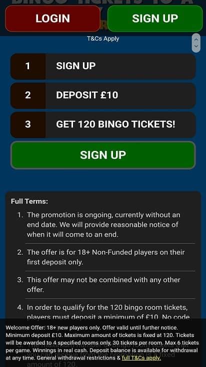 Giant bingo games page