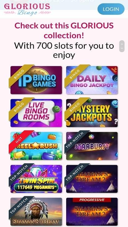 Glorious bingo games page