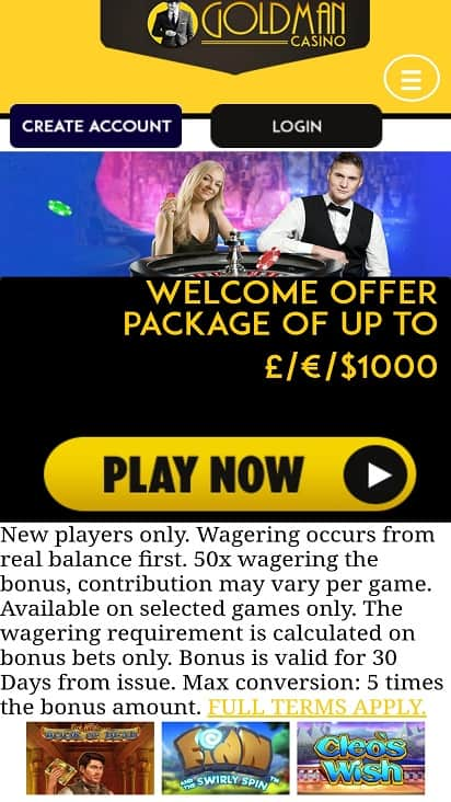 Gold man casino home page