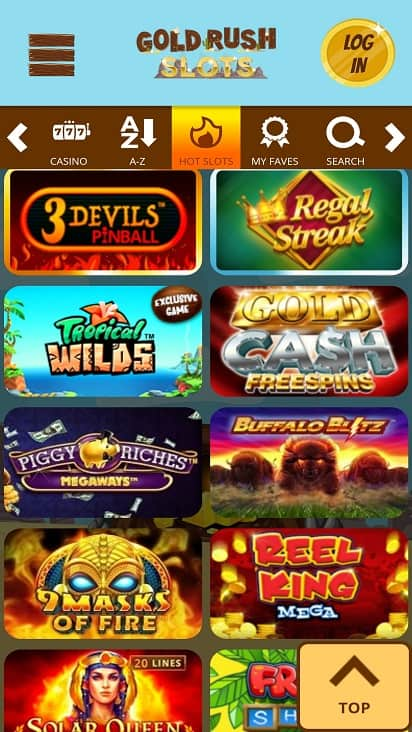 Gold rush slots games page