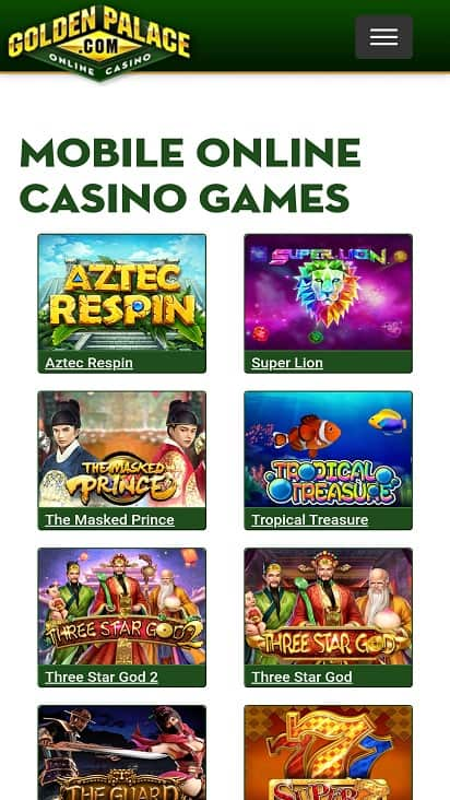 Golden palace games page