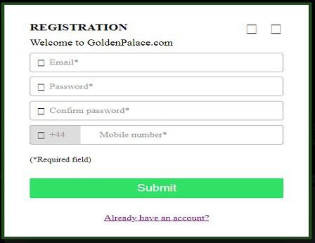 Golden Palace Registration