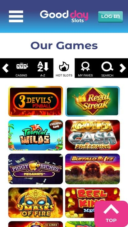 Good day slots games page